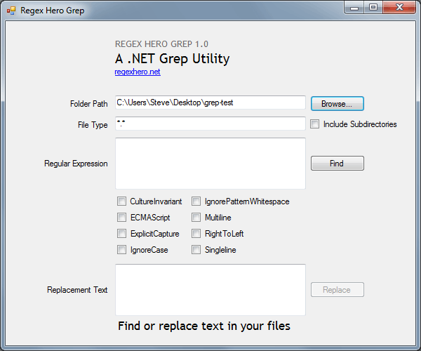 Regex Hero Grep